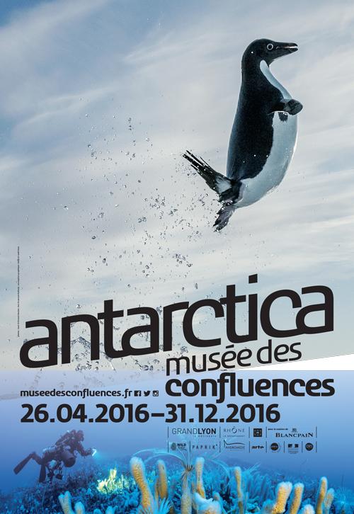 Affiche officielle de l'exposition Antarctica