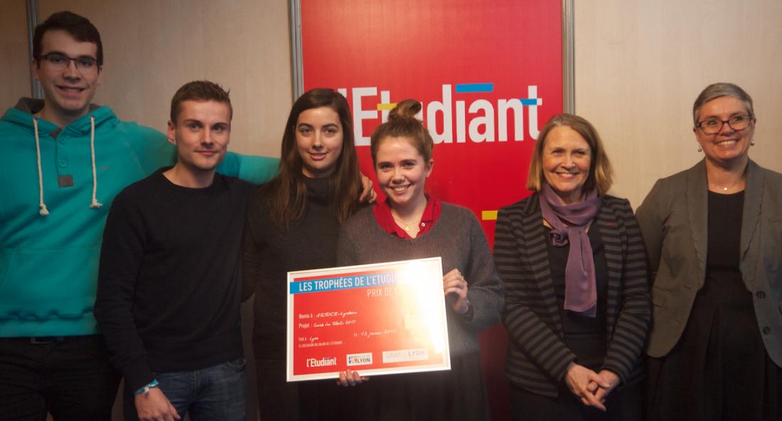 L'équipe d'ASTUCE-Lycéens a remporté le Trophée de l'Etudiant ce vendredi 13 janvier.